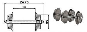 Roco 40195 Radsatz 9mm | Wechselstrom | 2 Stk. Spur H0 kaufen