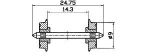 Roco 40197 DC-NEM-Normradsatz 9mm | 2 Stück | Spur H0 kaufen