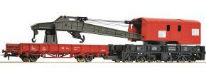 Roco 56240 Kranwagen mit Schutzwagen | verkehrsrot | DB AG | Spur H0 kaufen
