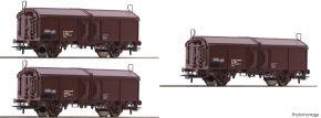 Roco 66178 3-tlg. Set Schiebedachwagen Tms ÖBB | DC | Spur H0 kaufen