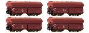 Roco 67083 Klappdeckelwagen-Set 4-tlg. KKt 57 DB | Spur H0 kaufen