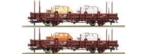 Roco 67086 Rungenwagen-Set 2-tlg. Us RENFE | DC | Spur H0 kaufen