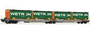 Roco 67401 Doppeltaschenwagen Wetron AAE | DC | Spur H0 kaufen