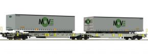 Roco 67404 Doppeltaschen-Gelenkwagen Spedition MOVE AAE | DC | Spur H0 kaufen