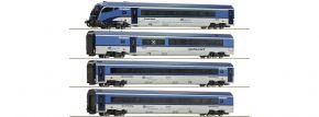 Roco 74065 Personenwagen-Set 4-teilig Railjet CD | DCC Digital | Spur H0 kaufen