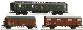 Roco 74091 Wagen-Set 3-tlg. Postzug DB | DC | Spur H0 kaufen