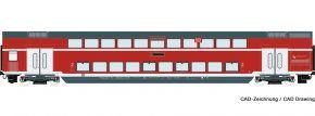 Roco 74152 Doppelstockwagen DB | DC | Ergänzung zu 74150 | Spur H0 kaufen