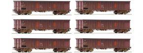 Roco 75973 6er Wagenset Offene Güterwagen FS | DC | Spur H0 kaufen