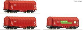 Roco 76011 3-tlg. Set Schiebeplanenwagen Shimmns, DB AG | DC | Spur H0 kaufen