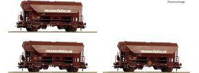 Roco 76033 3-tlg. Set Schwenkdachwagen Tds SNCF | DC | Spur H0 kaufen