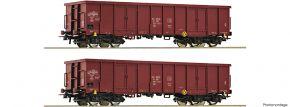 Roco 76038 2-tlg. Set offener Güterwagen Eaos PKP | DC | Spur H0 kaufen