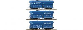 Roco 76046 3er Wagenset Selbstentladewagen PKP Cargo | DC | Spur H0 kaufen
