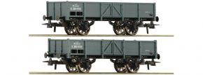 Roco 76048 2er Wagenset offene Güterwagen kkStB | DC | Spur H0 kaufen