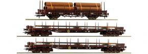 Roco 76053 3-tlg. Set Rungenwagen Stahlzug ÖBB | DC | Spur H0 kaufen