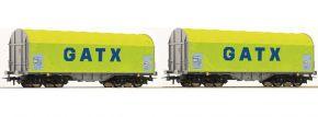 Roco 76055 Schiebeplanwagen-Set 2-tlg. Shimmns GATX | Spur H0 kaufen
