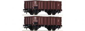 Roco 76061 Offene Güterwagen Set 2-tlg. GTOW SNCB | DC | Spur H0 kaufen