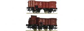 ausverkauft | Roco 76069 2-tlg. Set Offene Güterwagen PKP | DC | Spur H0