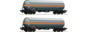 Roco 76073 2-tlg. Set Druckgaskesselwagen NACCO | DC | Spur H0 kaufen