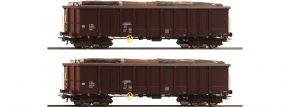 Roco 76075 2-tlg. Set Offene Güterwagen Eanos ÖBB | DC | Spur H0 kaufen