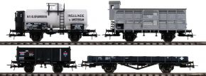 Roco 76077 Güterwagen Set 4-tlg. | DC | Spur H0