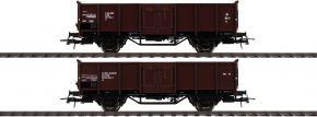 Roco 76125 Offene Güterwagen Set 2-tlg El DSB | DC | Spur H0 kaufen