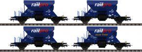 ausverkauft | Roco 76137 4-tlg. Set Schotterwagen Railpro | DC | Spur H0 kaufen