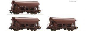 Roco 76180 3-tlg. Set Schwenkdachwagen Tds ÖBB | DC | Spur H0 kaufen