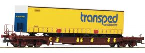 Roco 76223 Taschenwagen T3 m. transped Trailer DSB | DC | Spur H0 kaufen