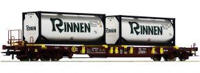 Roco 76225 Taschenwagen T3 m. Tankcontainern Sped. Rinnen AAE | DC | Spur H0 kaufen