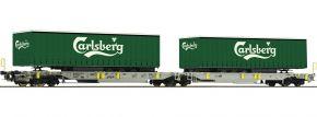 Roco 76432 Doppeltaschen-Gelenkwagen Carlsberg AAE | DC | Spur H0 kaufen