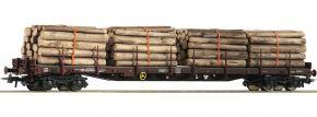 Roco 76574 Rungenwagen Rs mit Holzladung SBB   DC   Spur H0 kaufen
