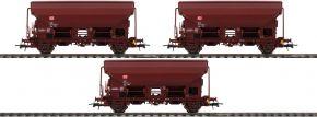 Roco 76575 3-tlg. Set Schwenkdachwagen | DB AG | DC | Spur H0 kaufen