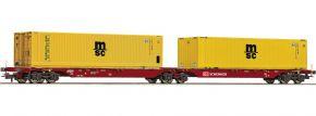 Roco 76630 Container-Doppeltragwagen MSC DB Schenker | DC | Spur H0 kaufen