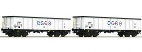 Roco 76731 Offene Güterwagen-Set 2-tlg. Eaos Ecco | Spur H0 kaufen