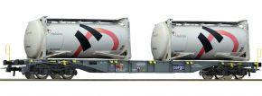 ausverkauft   Roco 76943 Containertragwagen m. Holcim Tankcontainer SBB   DC   Spur H0