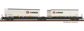 Roco 77390 Doppeltaschen-Gelenkwagen T3000e DB Schenker Kombiverkehr | DC | Spur H0 kaufen