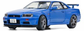 Schuco 421185690 Nissan R34 GTR, blau | Modellauto 1:18 kaufen