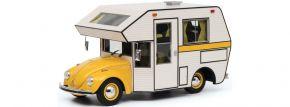 Schuco 450011300 VW Käfer Motorhome gelb | Modellauto 1:18 kaufen