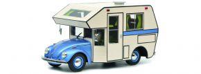 Schuco 450011400 VW Käfer Motorhome, blau | Modellauto 1:18 kaufen