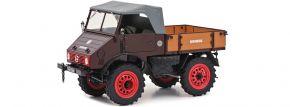 Schuco 450017500 MB Unimog U401, dunkelrot | Agrarmodell 1:18 kaufen