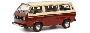 Schuco 450038100 VW T3a Bus rot/beige | Modellauto 1:18 kaufen