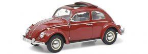 Schuco 450043300 VW Käfer Faltdach rot | Modellauto 1:18 kaufen