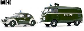 Schuco 450774400 2er Set Polizei - VW Käfer und VW T1 Kasten | MHI | Blaulichtmodell 1:32 kaufen