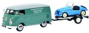 Schuco 450374100 VW T1 Kasten mit Autohänger Kleinschnittger | Automodell 1:43 kaufen