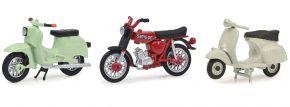 Schuco 450380200 3er-Set Schwalbe, Simson S51, Roller GS | Motorradmodell 1:43 kaufen