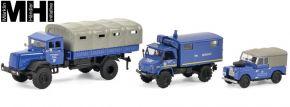 Schuco 452656000 3er-Set THW Land Rover, Unimog 404, MB LG 315 | MHI | Automodell 1:87 kaufen