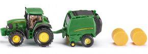 siku 1665 John Deere mit Ballenpresse | Traktormodell