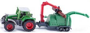 siku 1675 Fendt mit Holzhäcksler | Traktormodell kaufen