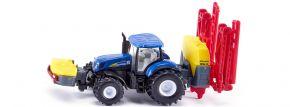 siku 1799 New Holland mit Kverneland Pflanzenschutzspritze | Traktormodell 1:87