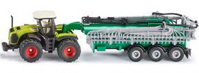 siku 1827 Claas Xerion mit Fasswagen | Traktormodell 1:87